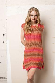 LANG YARNS FATTO A MANO 197 - SPRING # 57 Sol dégradé Coat Dress, Jacket Dress, Lang Yarns, Knit Fashion, Crocheting, Knitwear, Knit Crochet, Creations, Short Sleeve Dresses