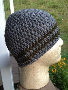 Crochet Beanie Pattern, Skull Cap, EASY, INSTANT DOWNLOAD on Etsy, $5.00