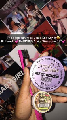Ebin New York Edge Control Natural Hair Care Tips, Natural Hair Growth, Natural Hair Styles, Curly Hair Care, Curly Hair Styles, Beauty Care, Hair Beauty, Hair Essentials, Hair Supplies