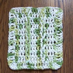 Jacob's Ladder Dishcloth - an excellent way to practice this pattern before making a full size afghan.