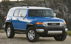 I told myself when I was a little kid that someday I would own one of these, and it would be blue! Toyota FJ Cruiser.