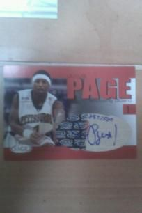Julius Page NCAA Pittsburgh Signed Sage 2004 Authentic Autograph card. LE