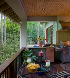 Contemporary Outdoor Kitchen Designs: Outdoor Kitchen And Covered Porch ~ Kitchen Inspiration Indoor Outdoor Kitchen, Backyard Kitchen, Outdoor Kitchen Design, Outdoor Rooms, Outdoor Kitchens, Design Kitchen, Outdoor Decor, Car Porch Design, Patio Design