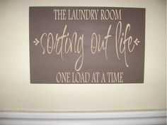 Custom Personalized Wooden sign-Laundry Room Sorting Out Life One Load At A Time