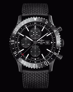 Breitling : Nouvelle Chronoliner Blacksteel.