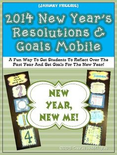 New Year's Resolutions and Goals Mobile {FREEBIE} - So great!