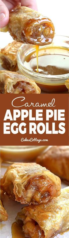 APPLE PIE EGG ROLLS Oh my! You combined apple pie and egg rolls?! It looks and sounds incredible! Perfect for dessert !