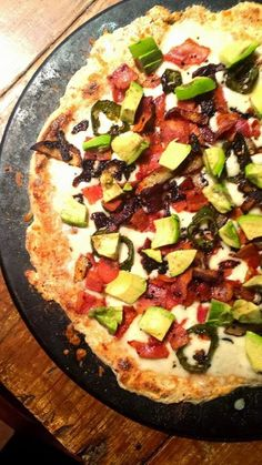 HcG DIET RECIPE PHASE 3 P3: Bacon Avocado Jalapeno PIZZA - low carb gluten free diabetic friendly