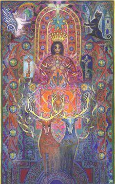 VII LA NEF DES ETOILES - Tarot de l'ange liberté by MYRRHA