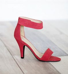 The PERFECT red high heels for spring. ON SALE, too!