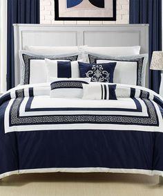 Navy Venice Comforter Set