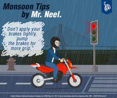 Mr Neel does so to avoid skidding.