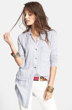 Free People 'Breakfast in Bed' Button Front Top available at #Nordstrom (XS)