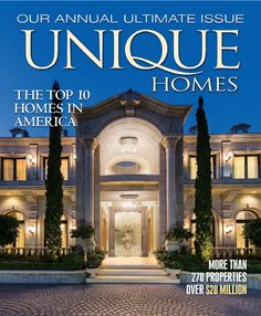 It is the best magazine which guides you to your high goal and real estate for trades across the countries or around the world. The six issues of this magazine indicate the most well-known and widest collection of luxurious houses and available estates for buying.