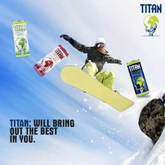 Refresh your mood and fortify  your #energy level. Get the #Titan can & let the adventurous spirit flow.