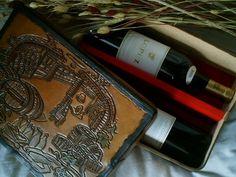 vintage caja de cuero para vinos regalopersonalizado