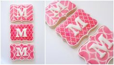 Accenting Decorated Cookies with Stencils {Guest Post} #monogram