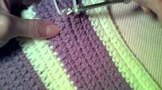 Writing on Single Crochet Fabric with Slip Stitches