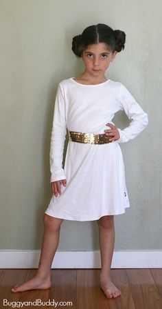 Easy DIY Princess Leia Costume! (Perfect for any Star Wars fan and can be  sc 1 st  Pinterest & Easy Princess Leia Costume | Kid Blogger Network Activities u0026 Crafts ...