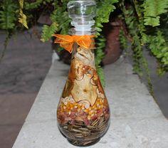 Vela de parafina liquida, decoradas con fruta deshidratada y semillas naturales, representan y atraen la abundancia de la tierra, Velas el Rosario, Iluminando tu vida...!