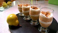 Verrines aux pommes Pudding, Desserts, Food, Apples, Recipes, Tailgate Desserts, Deserts, Essen, Puddings