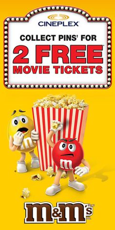 Get 2 #Free #Movie Tickets from M&M's