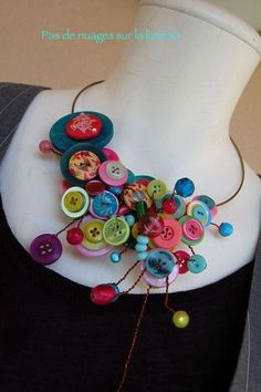 collier boutons by alyssa