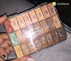 repost via @instarepost20 from @dulce_de_chrissy I honestly thought I was the only genius that thought to do this until I went on @vueset 's page lol. Anyway I cut the names off the tubes (which are labeled with the corresponding number) and used that to label the container. #lagirlcosmetics #concealer #vueset #obsessed #mua #highlight #contour #colorcorrect #instarepost20