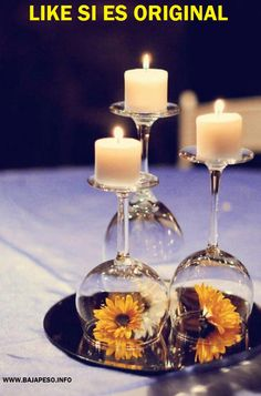 Porta velas de copas