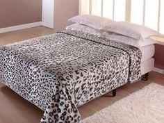 Cobertor Casal Corttex Leopardo - 1 Peça com as melhores condições você encontra no Magazine Nivaldo. Confira!