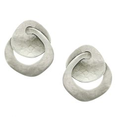 Disc and Interlocking Ring Earring | Marjorie Baer Accessories