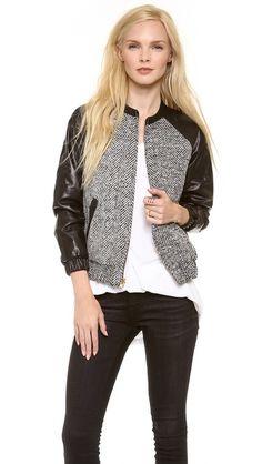I love you, jacket.  LAVEER Leather Sleeve Bomber