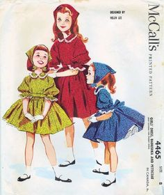 McCall's 4465 by Helen Lee © 1958.  Featured as a dress for Betsy McCall in her July 1959 paper doll.