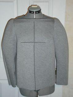 BALENCIAGA PARIS Gray Neoprene Structured Top Sweater 2009 #Balenciaga #KnitTop