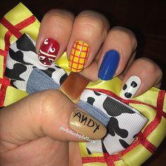 Woody from Toy Story Nail Art