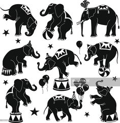 Clipart vectoriel : circus des éléphants