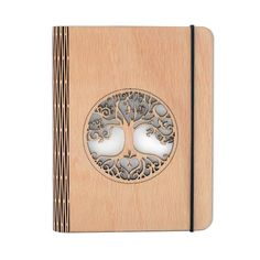 Tree of Life Wooden Notebook от GrafitStudio на Etsy Leather Notebook, Leather Books, Leather Journal, Handmade Notebook, Handmade Books, Etsy Handmade, Woodworking Shop, Woodworking Projects, Laser Cut Plywood