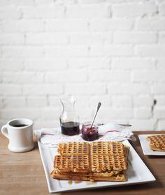 waffles, breakfast, brunch