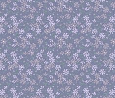 Francesca Floral - violet fabric by valerinick_ on Spoonflower - custom fabric