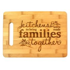 ✿'Kitchens were made to bring families together'✿ #cuttingboard #kitchen #home…