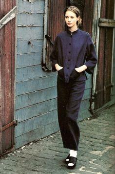 """""""Bleus de Chine"""": Photographed by Mikael Jansson for Vogue Paris, March 1994"""