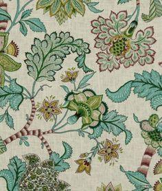 Robert Allen Peggys Cove Hyacinth Fabric - $36   onlinefabricstore.net