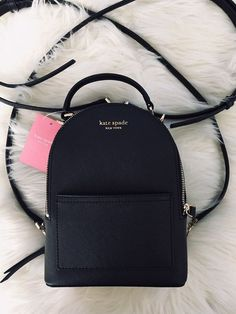 New with tags Cameron convertible mini backpack in black. - New with tags Cameron convertible mini backpack in black. Cute Mini Backpacks, Stylish Backpacks, Kate Spade Backpack, Backpack Bags, Kipling Backpack, Coach Backpack, Chanel Backpack, Backpack Outfit, Small Backpack