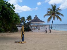 A view of the beach at Sandals Resorts, Negril, Jamaica.