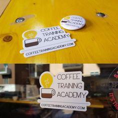 Our new marvellous stickers!!! Thanks to @stickermule #CoffeeTrainingAcademy #Verona #coffeepassion @davidecobelli
