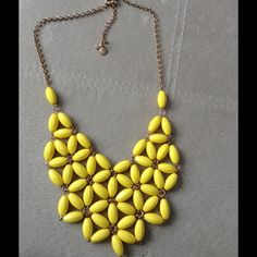 J Crew yellow floral bib necklace statement J Crew Factory bib/statement necklace - love this one but am cleaning out the closet. Lightweight & perfect for spring/summer :) J. Crew Jewelry Necklaces