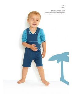 Dis Une Couleur - TIVU BLUE LONG SLEEVE SHIRT Blue Long Sleeve Shirt, Elegant Outfit, Blue Shorts, Colored Jeans, Deep Blue, Overall Shorts, Little Ones, Overalls, Style Inspiration