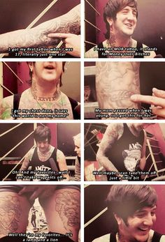 Austin Carlile talking about his tattoos :D He's so happy while talking about them... it's so cute!