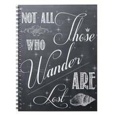 Inspirational Quote Notebook - Chalkboard Art