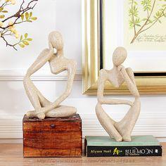 Resina abstrata moderna figuras escultura Art personagens estátua estatueta arenito enfeites artesanais para casa e decoração do escritório presente em Artesanato em Resina  de Em casa, Kitchen & Jardim no AliExpress.com | Alibaba Group